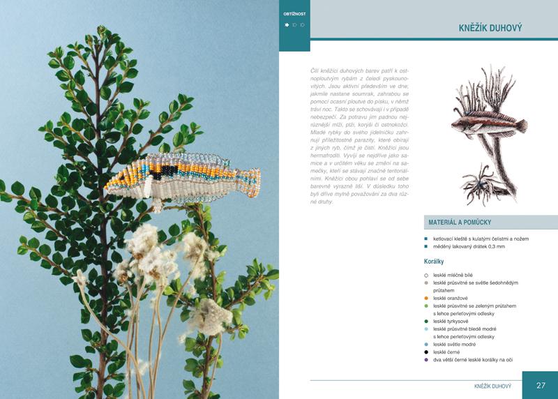 Ukázka z knihy Vytváříme mořské živočichy z korálků